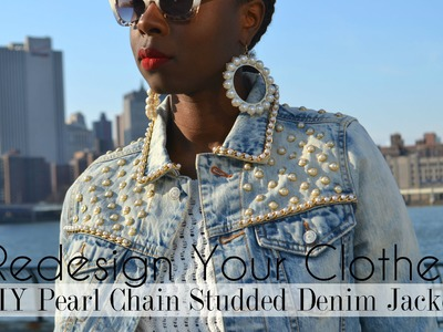 (RYC) 19: DIY Pearl Chain Studded Denim Jacket