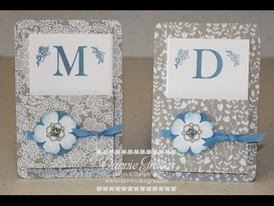 Stampin' Up! Monogrammed Note Card Set