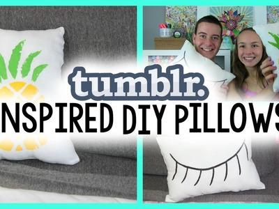 TUMBLR INSPIRED DIY PILLOWS | HOW TO DIY PILLOWS