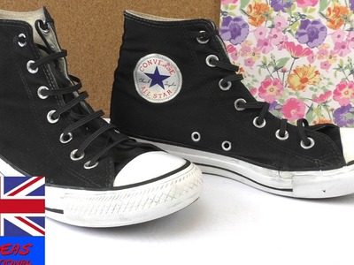 Tutorial: How to freshen up your old Converse