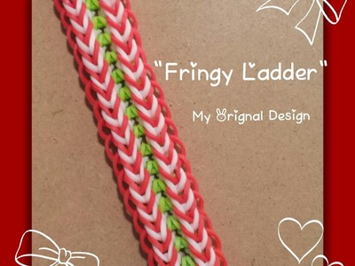 "*Updated* My ""Fringy Ladder"" Rainbow Loom Bracelet. How To Tutorial"