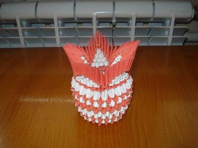 3D Origami Vase Tutorial #4