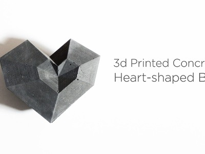3D Printed Concrete Heart Shaped Box