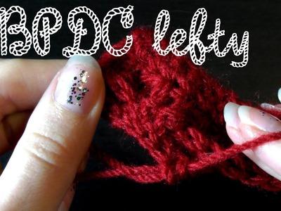 Back post double crochet - Crochet basics for lefties
