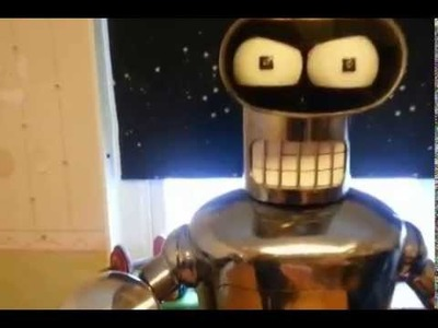 Bender robot futurama lifesize real build DIY motorized animatronic animatronics
