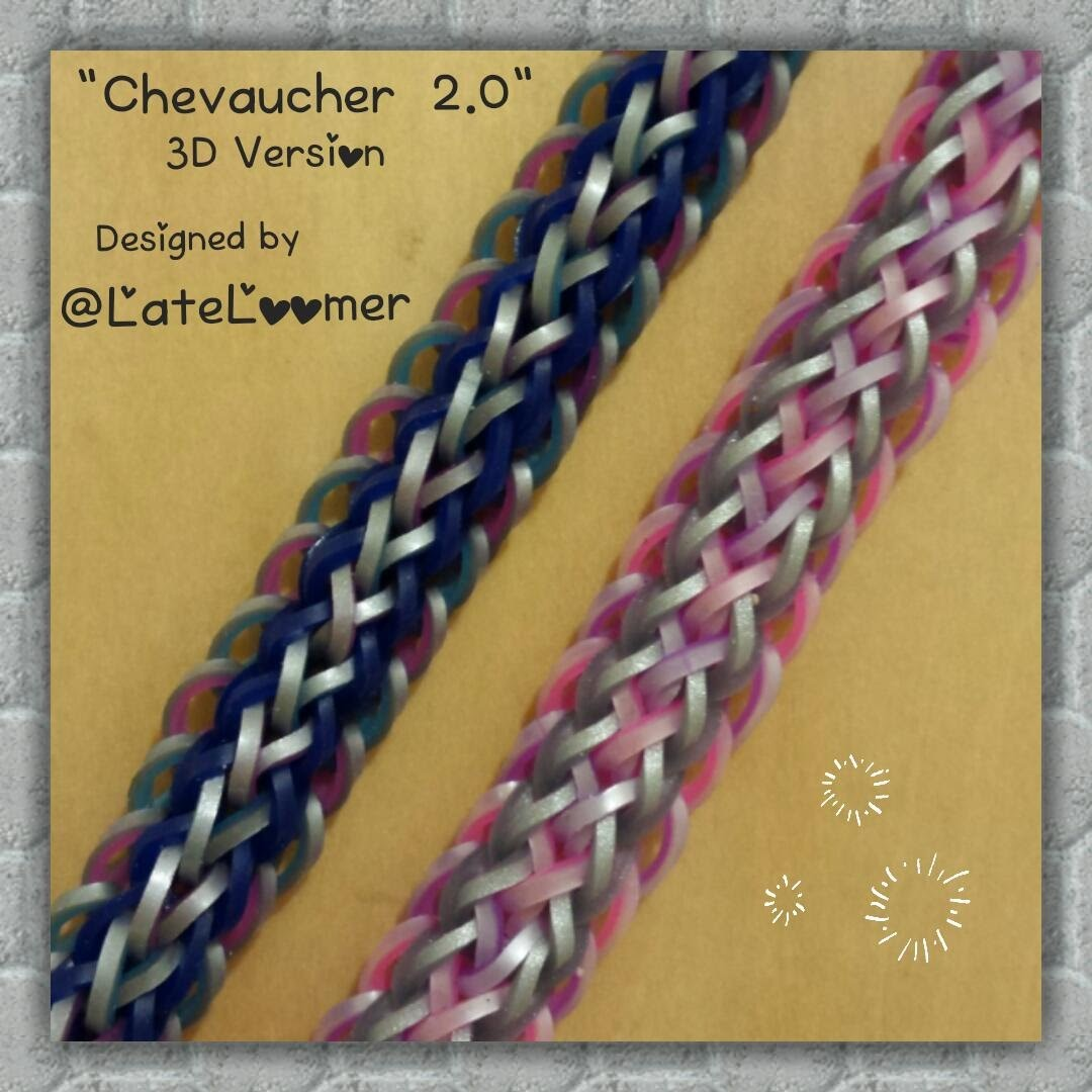 """""""Chevaucher 2.0"""" 3D Version: Hook Only Bracelet. How To Tutorial"""