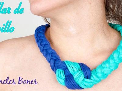 Collar trapillo nudo marinero | Tutorial crochet XXL