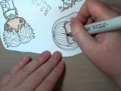 Coloring Zombie or Vampire skin with copic markers