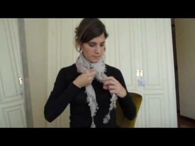 Cómo Ponerse un Pañuelo 2. How to wear a scarf 2