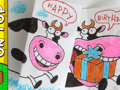 Crafts Ideas for Kids - Cow Card | DIY on BoxYourSelf