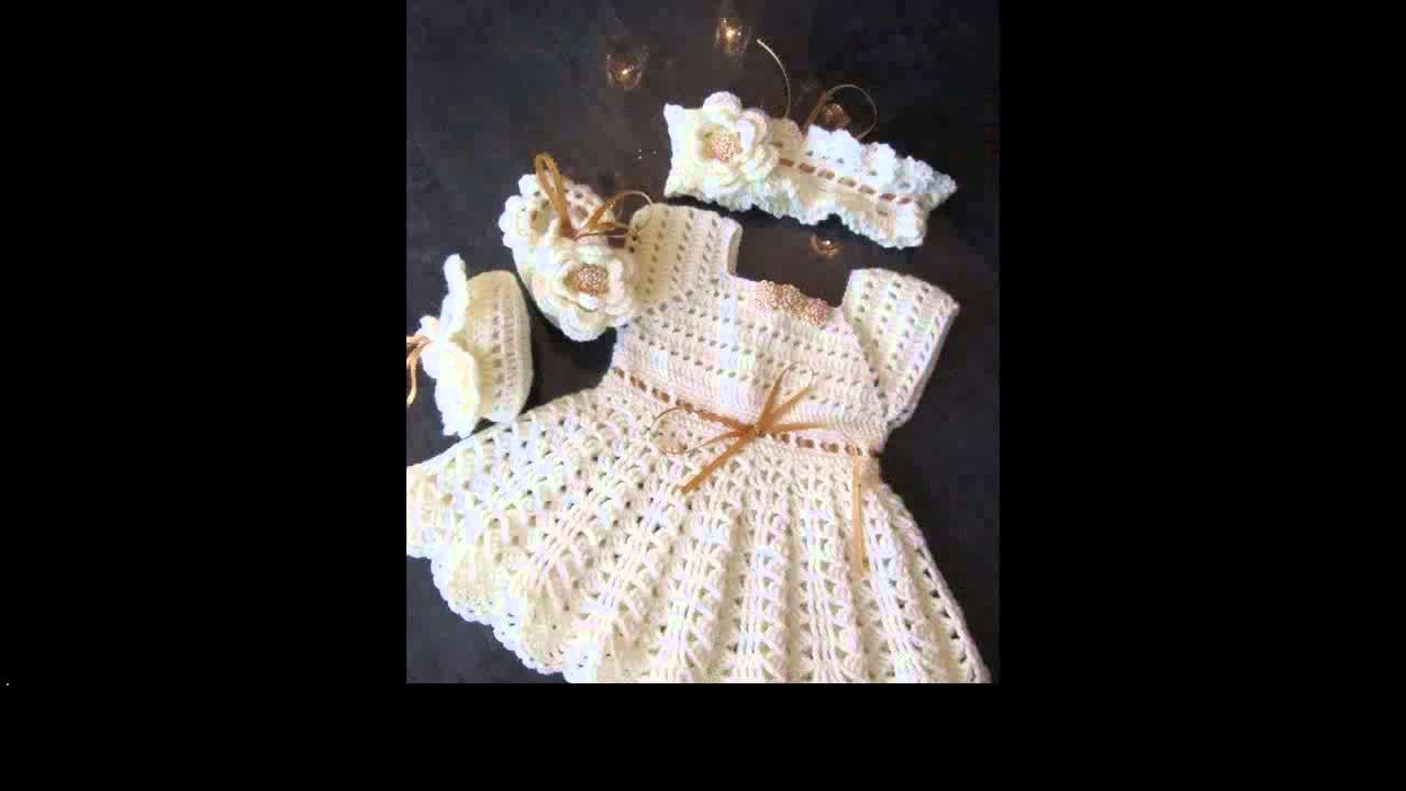Crochet dress for newborn