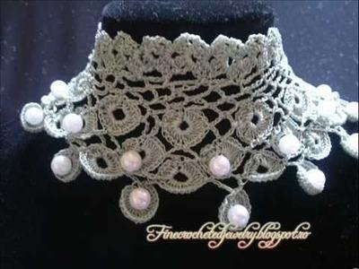 Crochet Pearl Jewelry by Fine Crocheted Jewelry