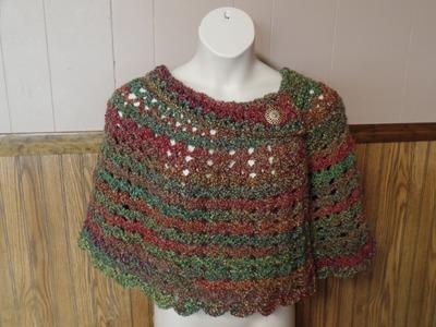 #Crochet Womans Cape Capelet Poncho #TUTORIAL