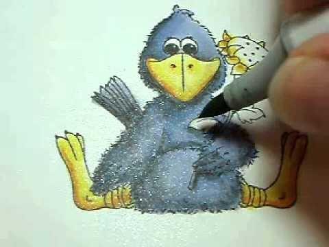 Crow Copic and Color Pencil Tutorial - Part 2