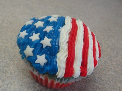 Decorating Cupcakes #106: Fourth of July. Independence Day
