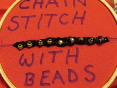 DIY: CHAIN STITCH WITH GOLDEN BEAD EMBROIDERY STEP BY STEP!