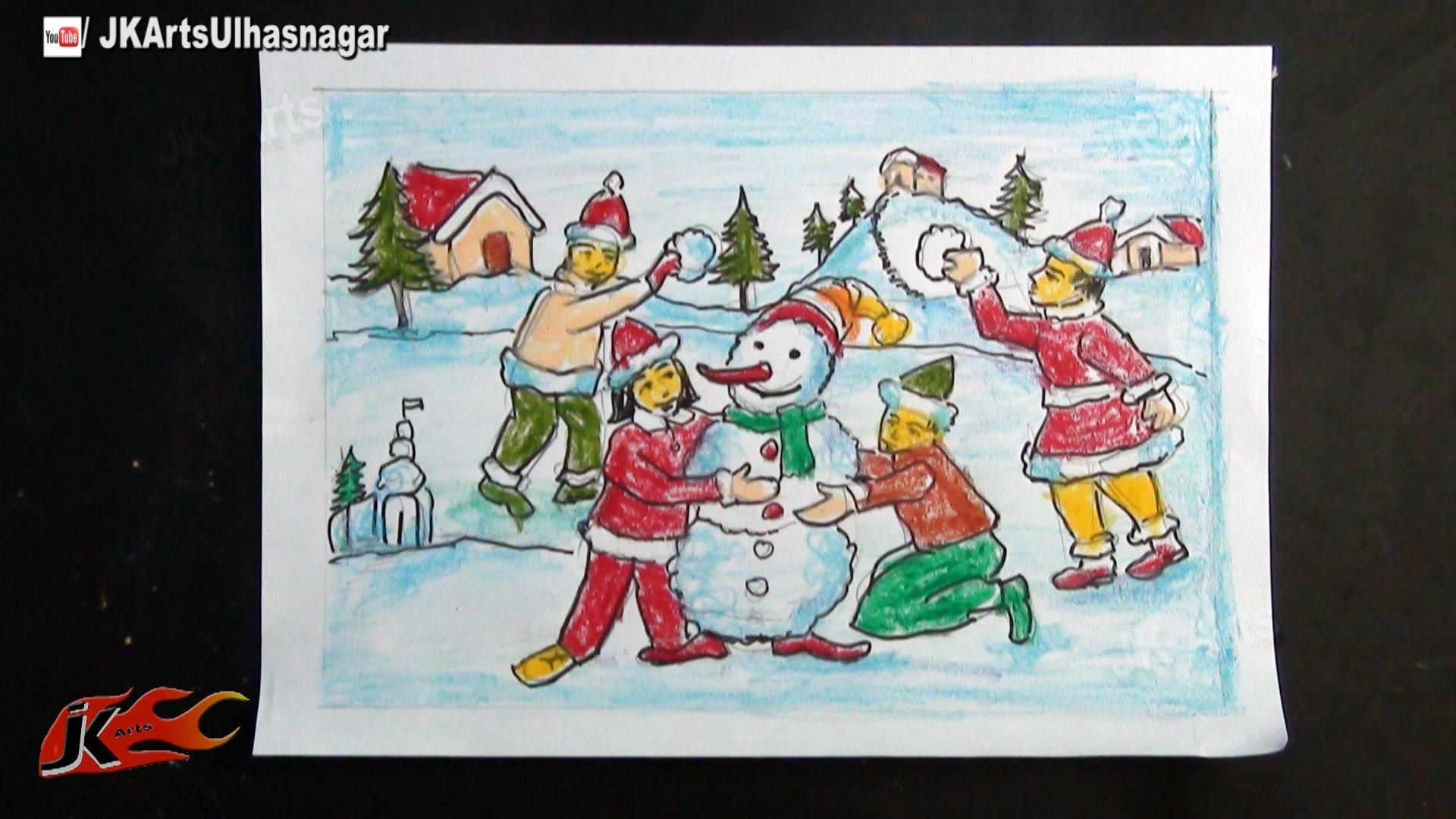 Christmas festival drawing