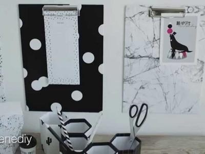 DIY: Clipboard bulletin boards by Søstrene Grene