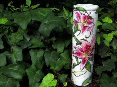 DIY Decoupage Supermarket Candle