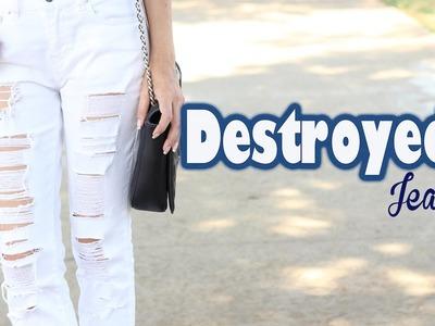 DIY - Destroyed Jeans + 3 Looks