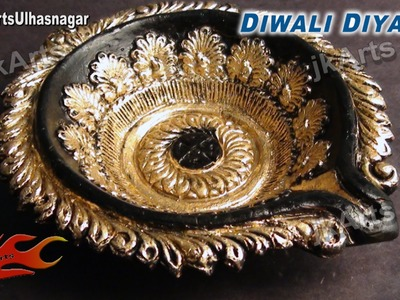 DIY Diwali Diya Decoration| How to |  JK Arts 421