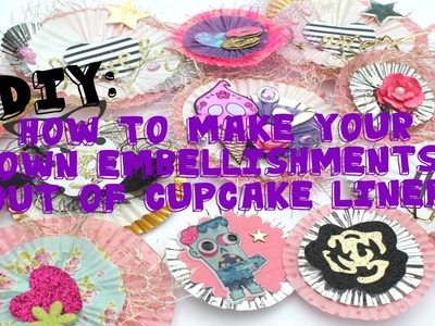 DIY Embellishments Using Cupcake Liners! {Perfect for Happy Mail Packaging}