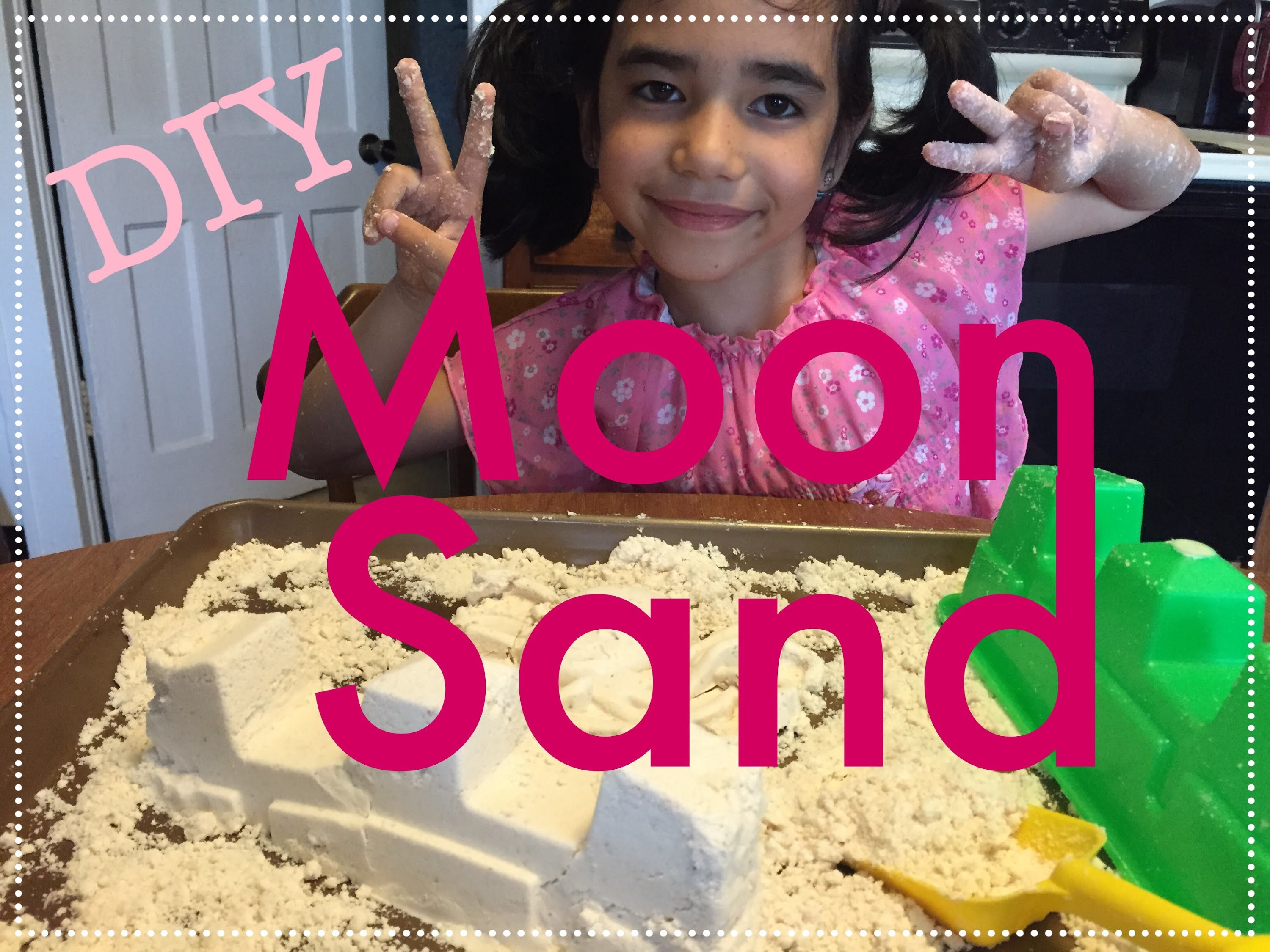 DIY MOON SAND WITH ONLY 2 INGREDIENTS! SUPER EASY!