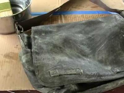 DIY Waxed Rothco Vintage Classic Messenger Bag!