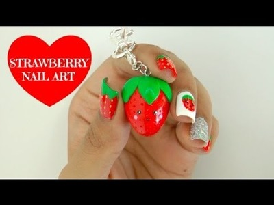 EASY DIY Strawberry Nail Art