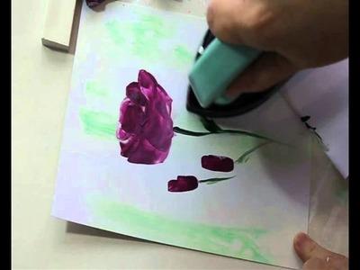Encaustic Art Flower Painting : Roses by Art In Wax
