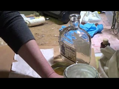 French shabby altered bottle Tutorial 1