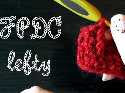 Front post double crochet - Crochet basics for lefties