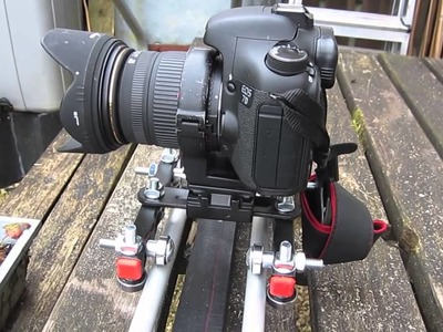 Homemade dSLR track dolly. slider (DIY, how to) with motor