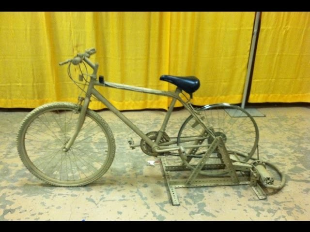 HOW TO BUILD A BICYCLE GENERATOR FOR ALTERNATIVE ENERGY (EASY TO BUILD AND PEDAL)