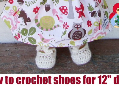 "How to crochet doll shoes (for 12"" Sami Dolls) 