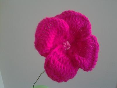 How to Crochet Poppy Flower?