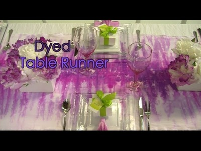 How To Dip Dye a Table Runner for Entertaining