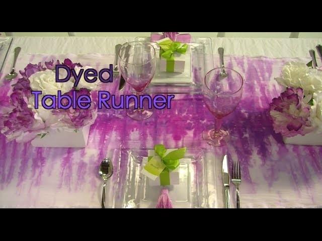 How To Dip Dye a Table Runner for Entertaining