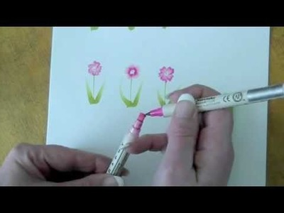 How to draw a calligraphy flower with Zig pens