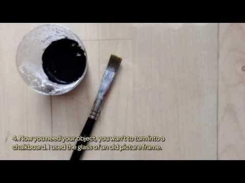 How To Homemade Chalkboard Paint And Diy Chalkboard - DIY Crafts Tutorial - Guidecentral