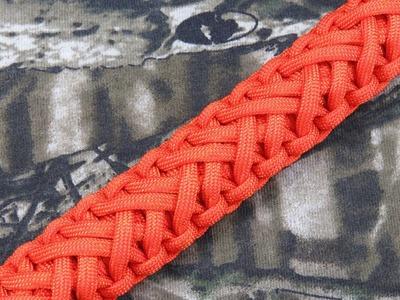 How to make a Single Strand Solomon Turkshead Paracord Bracelet Tutorial (Paracord 101)
