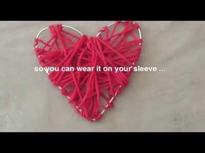 How to make a yarn heart