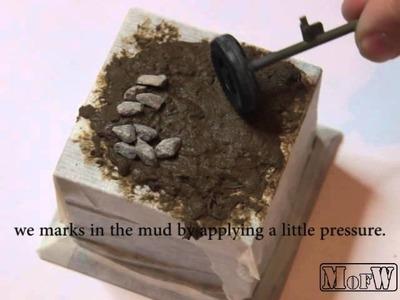 How to make mud - como hacer efecto barro