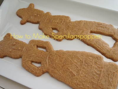 How to Make Speculaaspop, Speculoos, or Dutch Windmill Cookies