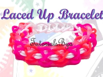 Laced Up Rainbow Loom Bracelet Tutorial