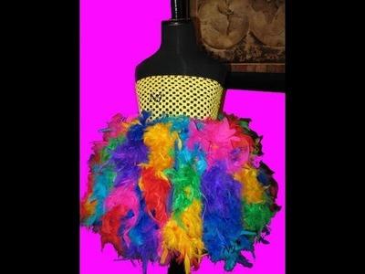 Make A Feather Tutu Dress with Lights No Sew