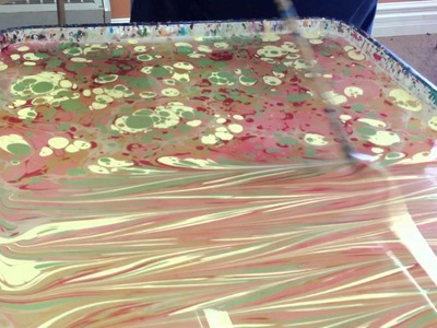 Marbling on Paper