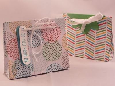 Mini Gift Bag Tutorial, a closer look at the closures!
