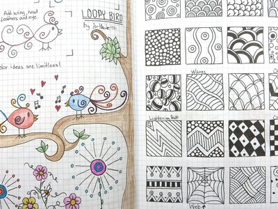 My Go-To Doodle. Drawing Journal Flip Through