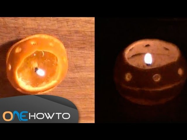 Orange Candle - Step by Step Making a Homemade Candle Expermient
